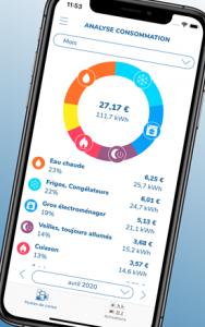 Application Ecojoko : consommation électrique par type d'appareil